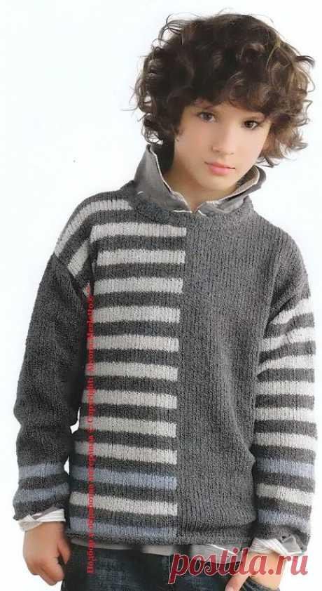 Пуловер спицами ...от Phildar (Франция) ...с полным переводом