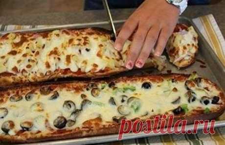Кулинарные Рецепты: Пицца-хлеб за 10 минут
