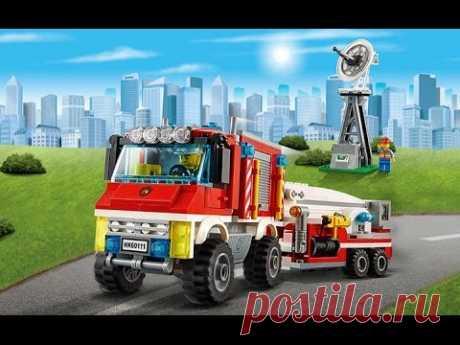 Мультфильмы Лего мультики Про машинки Полицейская машина Пожарная машина у Видео для детей Лего сити - YouTube