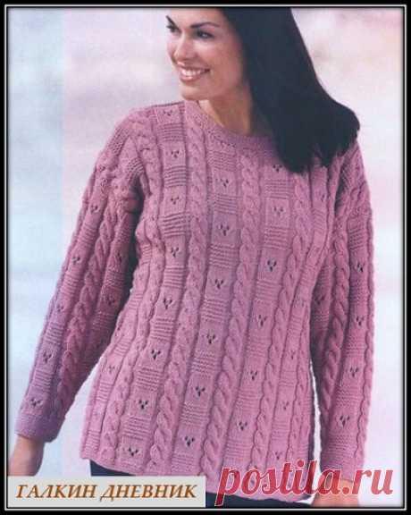 ГАЛКИН ДНЕВНИК - блог о вязании: Пуловер спицами для полных дам