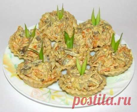 Салат с печенью в тарталетках — новый хит моего праздничного стола!
