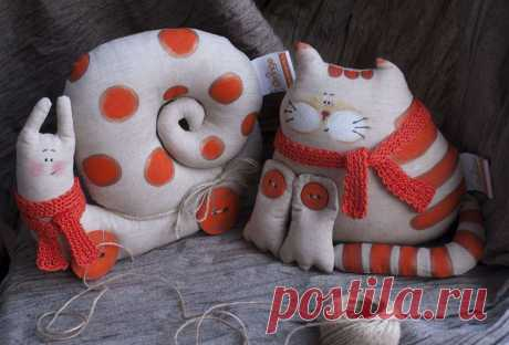 Рыжий кот и улитка в горошку :) - Сплошное рукоделие) — LiveJournal