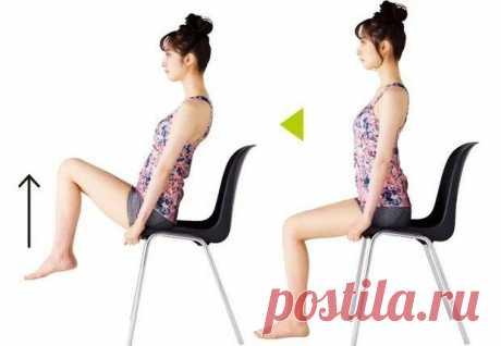 «Оказывается можно сидя на стуле устранять припухлости ног и худеть»: 5 упражнений, которых придерживаюсь | ❤️Стройная Роза | Яндекс Дзен
