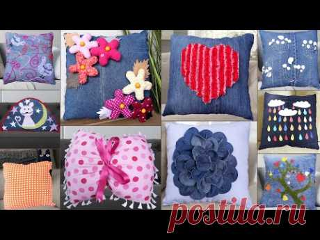 10 Jeans Cushion || Old Jeans Recycle Reuse Ideas || Cushion making || Jeans Handmade