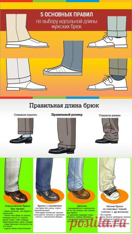 Какой должна быть правильная длина мужских брюк