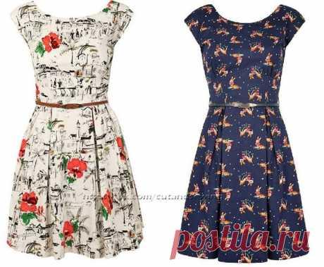 Выкройка платья (размеры 48-56)