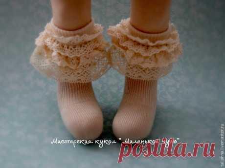 Шьем кружевные носочки (чулочки) для куклы - Сам себе волшебник