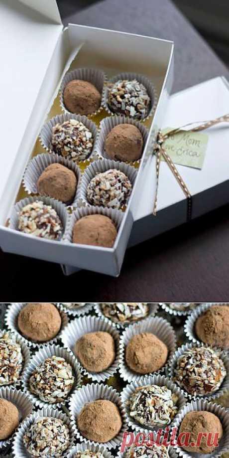 Шоколадные трюфели с миндалем - рецепт с фотографиями