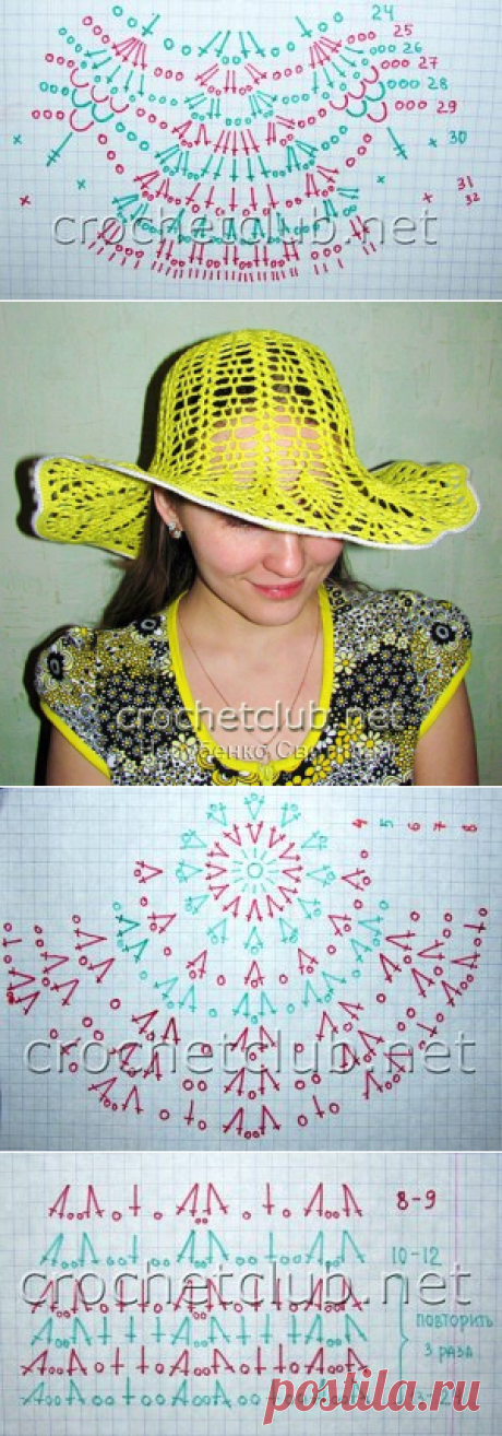 The beautiful summer hats connected by a hook — 15 schemes and a photo | Knitting of Caps - Fashionable and New Models