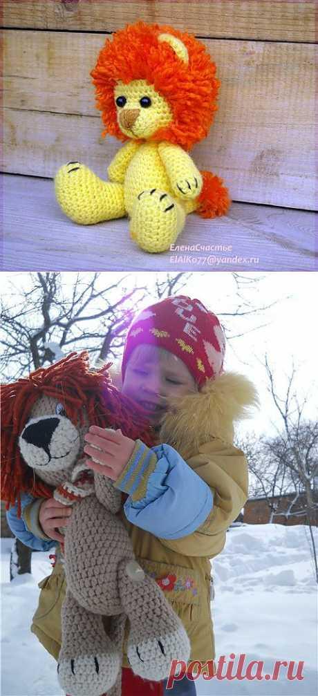 Львенок — вяжем игрушку крючком (описание) - Ярмарка Мастеров - ручная работа, handmade