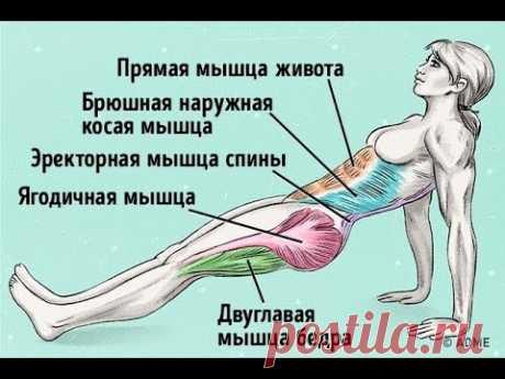 Убрать живот Подтянуть попу и укрепить спину одним упражнением СУПЕРПЛАНКА