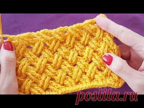 Tığişi Hasır/ Sepet Örgü / Crochet Basket Stitch