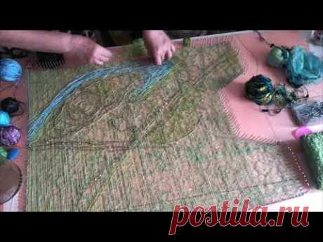 Крейзи вул  Crazy wool Как я делала декор нитями в технике крейзи, ч.3