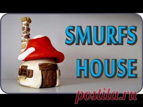 ❣DIY Smurfs Mushroom House Jar❣