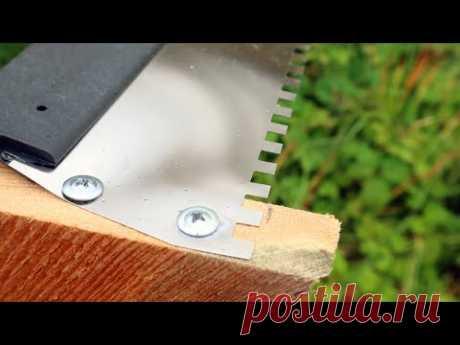 Классное решение из обрезков доски и шпателя! 100% пользы для строительства и ремнота!