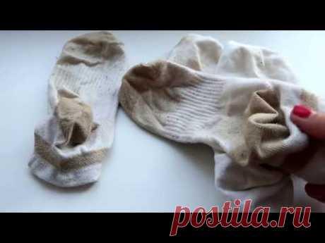 Обалденный способ вернуть белизну белым носкам!