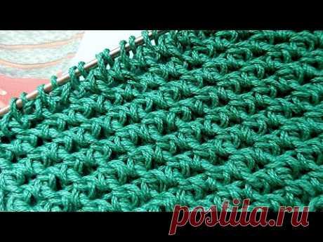 Вяжем бомбический фоновый узор спицами 🙋♀️ knitting pattern.