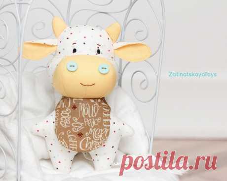 Vzorec šivanja krav PDF. Božična polnjena otroška igrača | Etsy