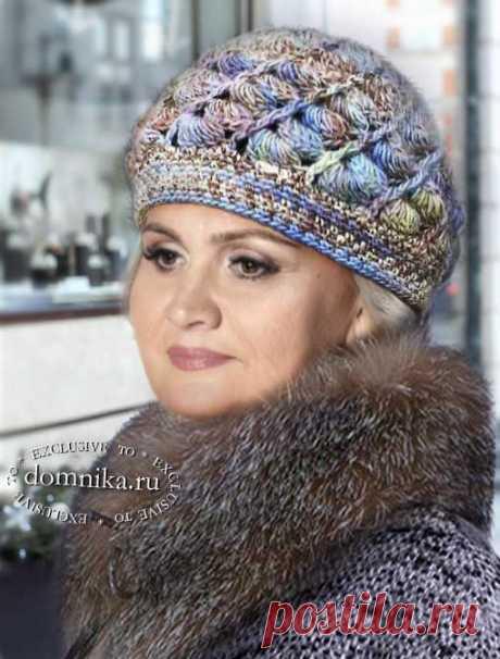 Вязание шапки для пожилых женщин старше 60 лет - 6 моделей шапок с описанием