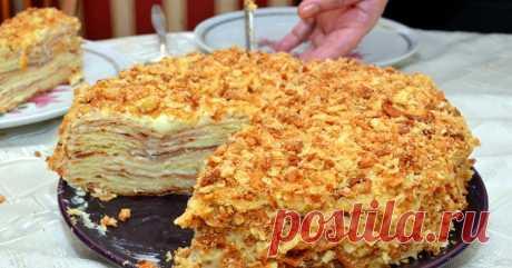 Рецепт постного торта «Наполеон» на пиве: балую этим десертом мужа, когда он постится Можно кушать в любое время, даже во время поста!