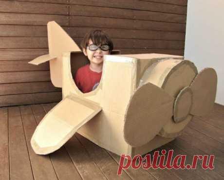 Идеи для игры с картоном детям.