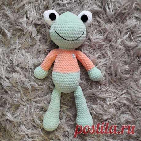 Лягушка плюшка игрушка крючком | Hi Amigurumi