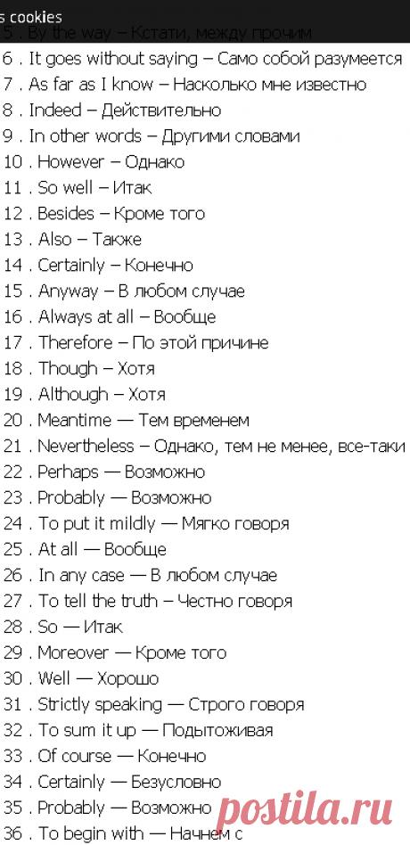 36 вводных слов и выражений английского языка