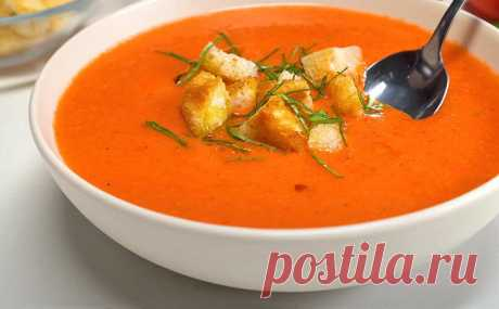 Суп на жару из Испании. Варим настоящий гаспачо за 15 минут