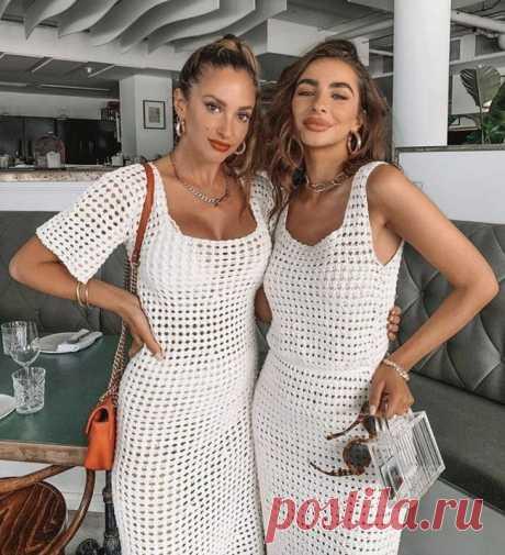 Стильное летнее платье крючком   otlicno.ru