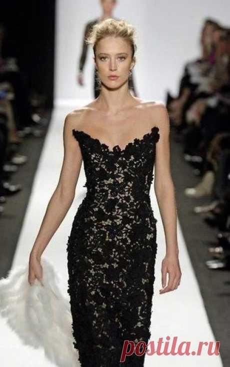 Вечернее платье крючком . Платье из мотивов ирландского кружева Вечернее платье крючком в технике ирландского кружева. Платье из мотивов ирландского кружева