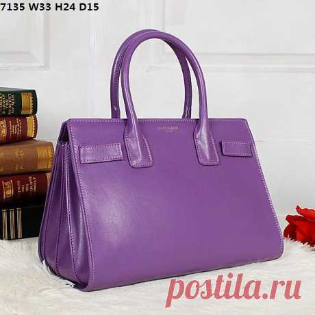 Фиолетовая сумка меня привлекла цветом :)