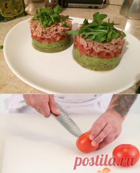 Диетические блюда на Карантине. Тимбал из авокадо и тунца пошаговый рецепт с видео и фото – испанская кухня: салаты