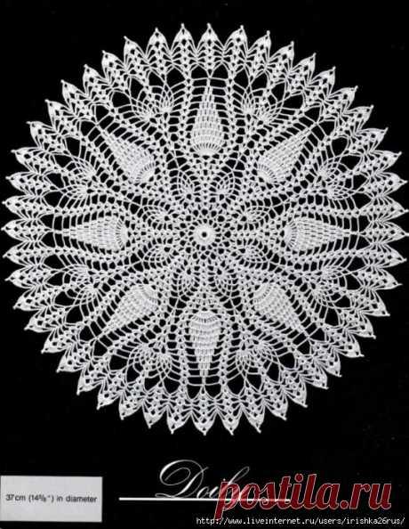 Схемы замечательных, невероятно красивых салфеток — DIYIdeas