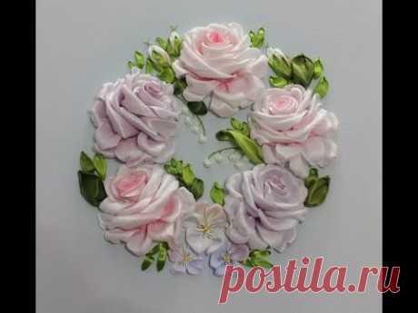 Самый подробный мастер-класс по Вышивке лентами розы