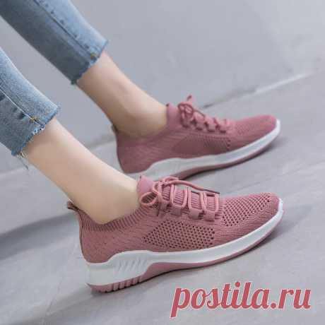 Women Solid Color Breathable Lightweight Casual Sneakers - US$25.99