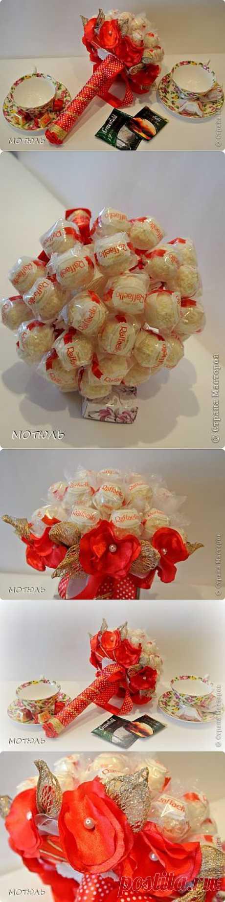 Букет из конфет Рафаэлло | СВОИМИ РУКАМИ