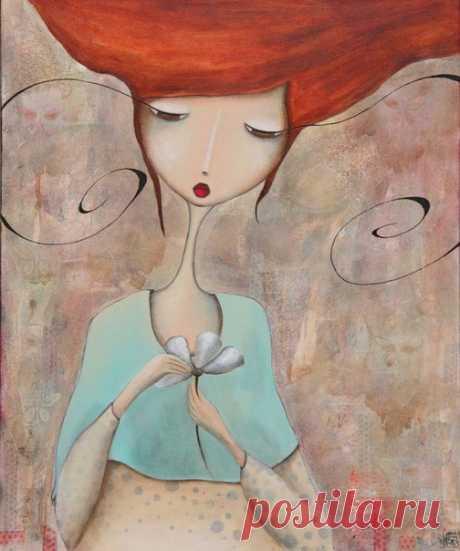 """Чем больше ты понимаешь, кто ты есть и чего хочешь, тем меньше расстраиваешься. Стефани Перкинс """"Анна и французский поцелуй""""  Художник Armandine Jacquemet Soares"""
