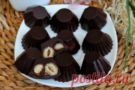 Домашние конфеты с вишневым сиропом и орехами — Sloosh – кулинарные рецепты