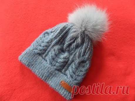 Шапка с двойной резинкой и колосками.Часть 1 Knitting(Hobby) - YouTube