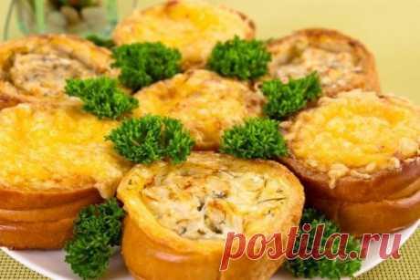 Закуска «Гнездышки с рыбой и сыром» Оригинальная закуска с очень нежной начинкой!
