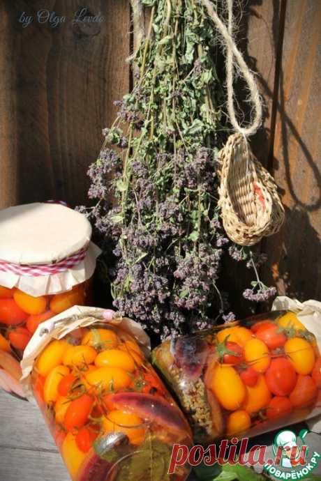 Помидоры черри в сладком маринаде