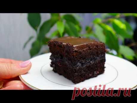 """Пирожное """"Ночка""""Шоколадный Торт на кефире/Очень мягкий,нежный и простой в приготовлении"""