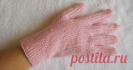 Перчатки на двух спицах без шва №1 Блог о вязании и трикотаже ручной работы.