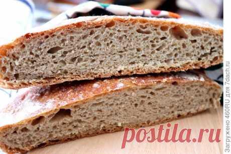 Хлеб без замеса - пошаговый рецепт приготовления с фото