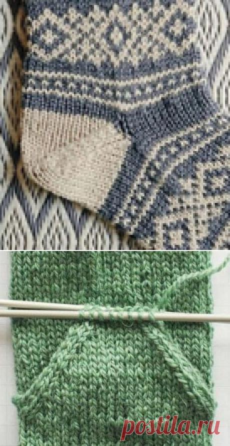 Вязание пятки носка. Вариант «Аfterthought»