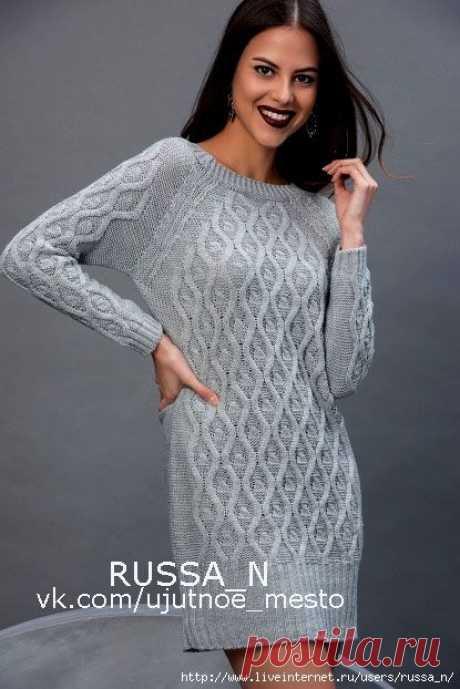 Как хорошо уметь вязать: Платье-туника спицами...........