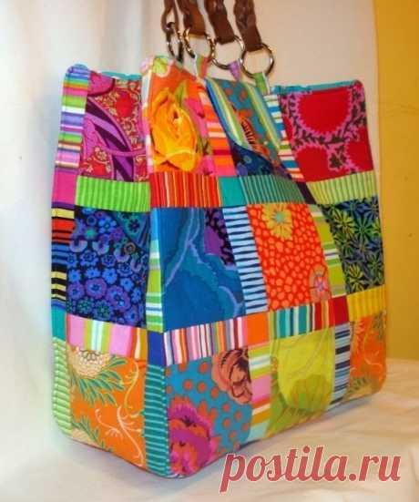 Лоскутные сумки пэчворк. Patchwork bags ~