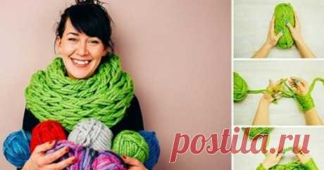 Невероятный шарф своими руками — без спиц! — Полезные советы