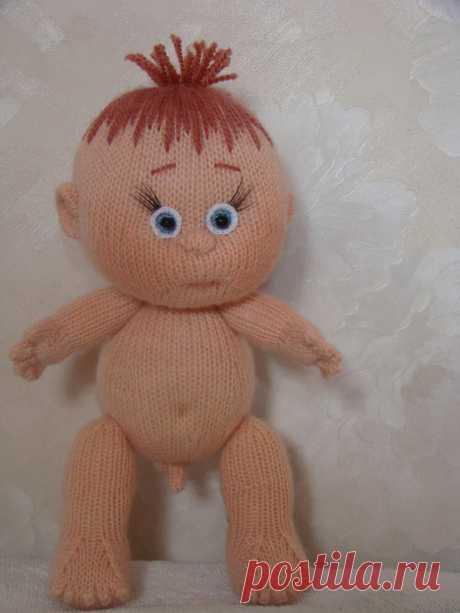 Вязаная спицами кукла подробный мастер класс