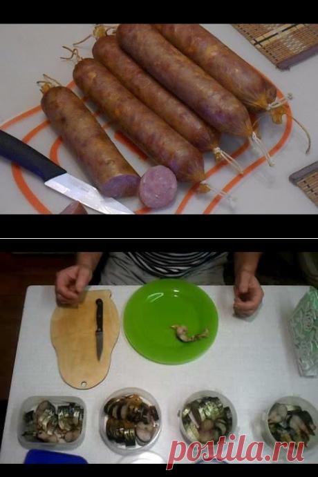 (982) Колбаса домашняя копченая в электростатической коптильне. Подробный рецепт - YouTube